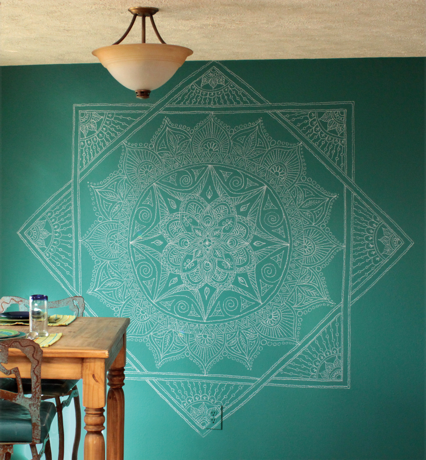 Chalk Wall Mandala
